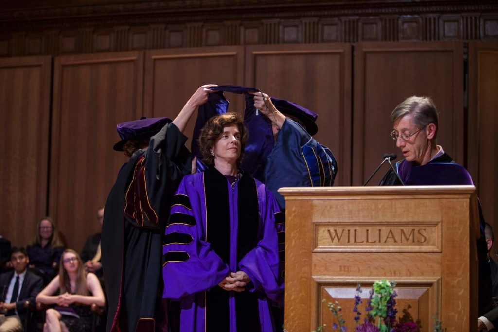 Maud S. Mandel receiving her honorary degree.